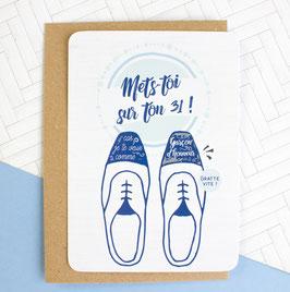 Carte postale à gratter : Demande Garçon d'honneur - Mets-toi sur ton 31 !