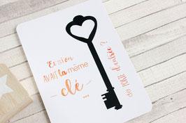 Carte postale : Même Clé de porte d'entrée