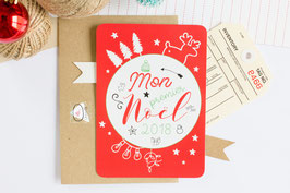 Carte - Premier Noël