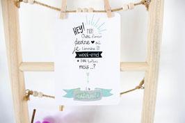 Carte postale à gratter : Séjour maternité