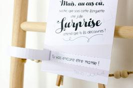 Carte Surprise Nude : Demande Témoin - Annonce grossesse - Annonce Mariage