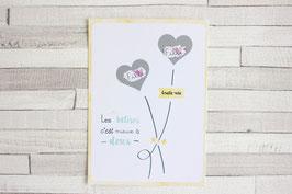 Carte postale à gratter : Jumelles !