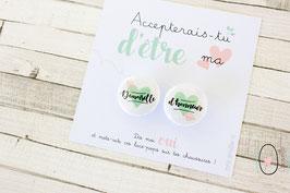 Lace-pop : Demoiselle d'honneur Vert et rose