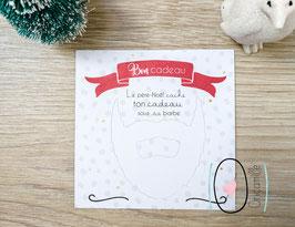 Carte à ouvrir de Noël