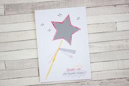 Carte postale à gratter : Invitation Anniversaire Baguette Magique