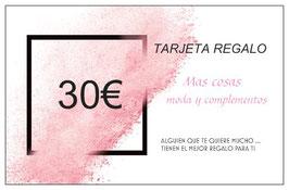 TARJETA REGALO 30