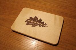Brotzeitbrett klein mit Eichenblatt Inlay