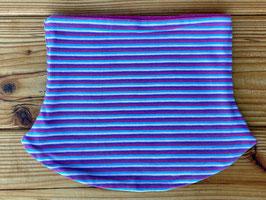 Streifen lila/bunt - Loop gefüttert mit Fleece