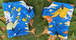 Blumenelfe blau - Fingerlose Handschuhe Gr.1