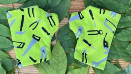 Werkzeuge grün - Fingerlose Handschuhe Gr. 1