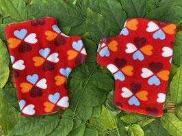 Glücksklee Frottee rot - Fingerlose Handschuhe 2
