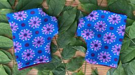 Lilleblumen blau - Fingerlose Handschuhe Gr.1