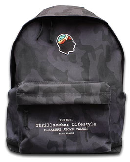 BLACK CAMO BACKPACK