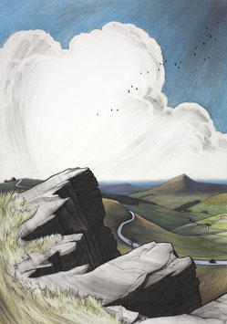 The Cat and Fiddle From Shining Tor Art Print