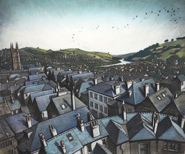 The Dart From Totnes Castle Print