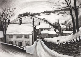 First Snow Brookbottom Art Print