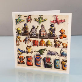 Kinder Eggs Collection Greeting Card