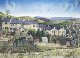 Kinder View From Whitle Road Print