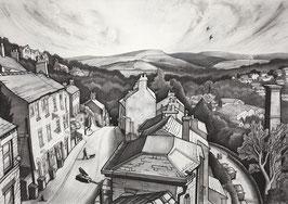 From A High Street Rooftop Fine Art Print