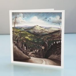 Down Eaves Knoll Greeting Card