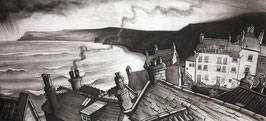 Robin Hoods Bay From Terry's Art Print