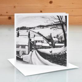 'First Snow Brookbottom' Art Card