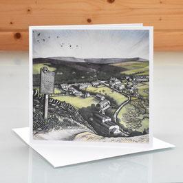 'Little Hayfield From Lantern Pike' Art Card