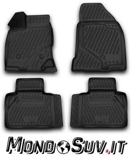 Set 4 Tappeti Auto Gomma con Bordo Ford Edge 2013-2015