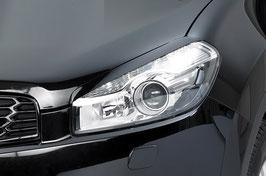 Set 2 Carene Palpebre Fari Nissan Qashqai 2010-2013