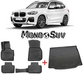 Kit Tappeti + Vasca Gomma 3D BMW X3 G01 2018+