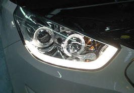 Kit 2 Fanali Anteriori LED Tube® Hyundai iX35 09-13
