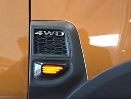 Indicatori Frecce Laterali LED Dacia Duster 2018+ Design Nero