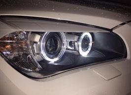 Kit Fanali Anteriori Angel Eyes PWL® Neri BMW X1 2009-2012