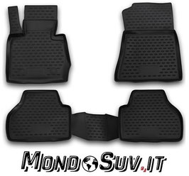 Set 4 Tappeti Auto Gomma con Bordo BMW X3 11-17