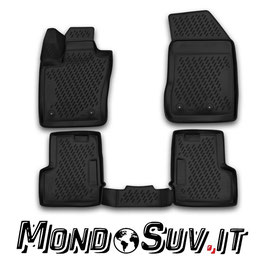 Set 4 Tappeti Auto Gomma con Bordo Jeep Renegade 2015>