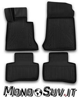 Set 4 Tappeti Auto Gomma con Bordo Mercedes GLK 2014+