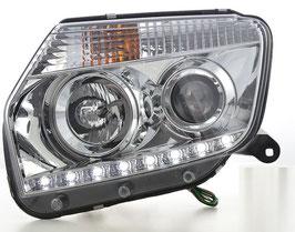 Kit 2 Fanali Anteriori LED DRL® Cromati Dacia Duster 2014+