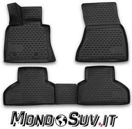 Set 4 Tappeti Auto Gomma con Bordo BMW X5 2013+