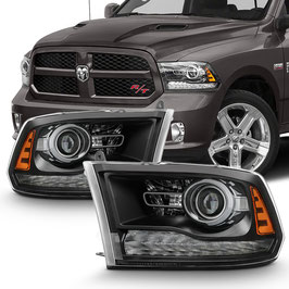 Kit Fanali Luci Anteriori OEM Look Dodge Ram 2013-2018