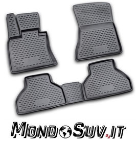 Set 4 Tappeti Auto Gomma con Bordo BMW X5 06-12