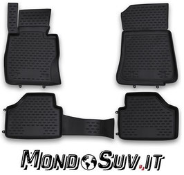 Set 4 Tappeti Auto Gomma con Bordo BMW X1 09-14