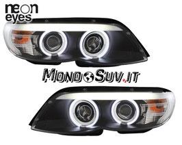 Kit Fanali Anteriori Neon® Neri BMW X5 E53 03-07