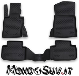 Set 4 Tappeti Auto Gomma con Bordo BMW X3 04-10