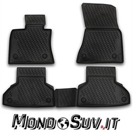 Set 4 Tappeti Auto Gomma con Bordo BMW X6 2015+