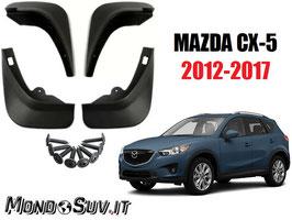 Paraspruzzi Paraschizzi Mazda CX-5 2012-2017 (4 Pezzi)