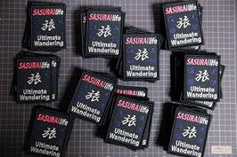 SASURAIlife 天涯流離 旅 刺繍ワッペン(縦型1)