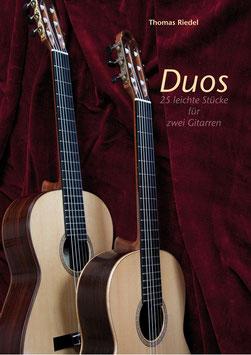 """Buch """"Duos"""" - für zwei Konzertgitarren."""