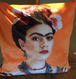 Kissenhülle ROSANNA (Portrait Frida Kahlo), orange