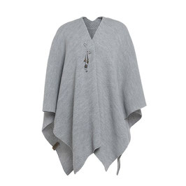 Jazz Poncho, Cape, grau / light grey