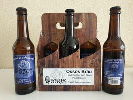 Ossos Bräu - saures Radler naturtrüb - Six-Pack - 6 x 0,33 l Flaschen inkl. € 1,- Pfand